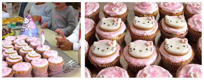Aniversário Helena 2 anos - banner cupcakes hello